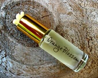 ORANGE BLOSSOM mini PERFUME. Custom-Blended Roll-on Perfume. Made in Hawaii. 1/6 fl oz (5 ml).