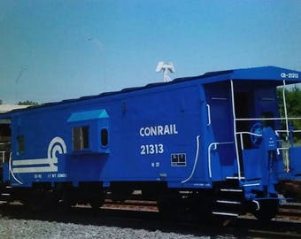 Train Blue Caboose