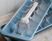 Blue  Metal Vintage Ice Tray, Coldspot  Aluminum Ice Cube Maker, 1950's 60's  Mid Century Kitchen, Retro Barware