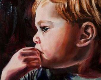 Portrait Art Original Oil Painting Portrait Fine Art Painting Expressive Emotional Collectible