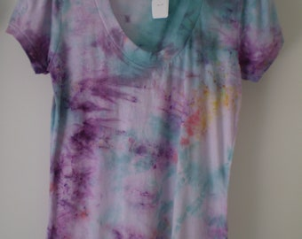 Tie Dyed Tee-choice of colors 28.00-One of a kind-Cotton round neckline FREE SHIPPING