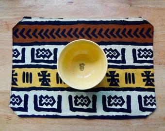 African Mudcloth Print Decorative Placemat Table Centerpiece