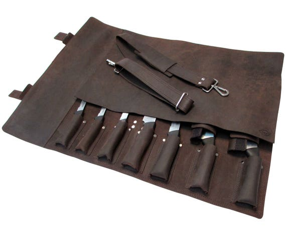 leather knife roll leather chefs bag knife case chef bag. Black Bedroom Furniture Sets. Home Design Ideas