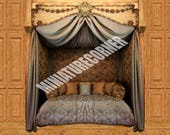 Dolls House Wallpaper Mural Day bed 112 scale Quality Paper 23 Miniature