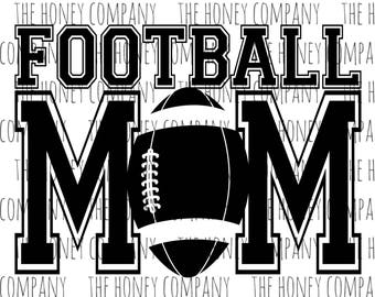 Football Mom SVG PNG DXF Instant Download Silhouette Cricut Cut Files Cutting Machine Vector File