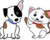 Lt Blue Saddle Stitch Dog Collar