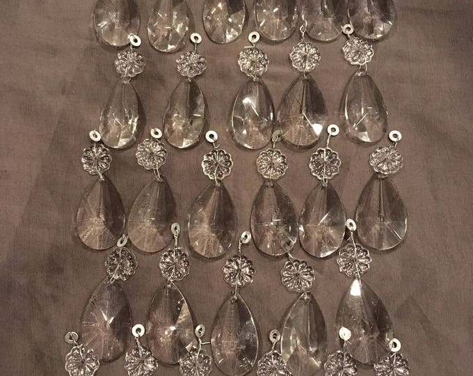 Lot of 29 Glass Crystal Prisms from Chandlier