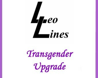 Want your leotard in the transgender version?  This is the listing to add to your order.