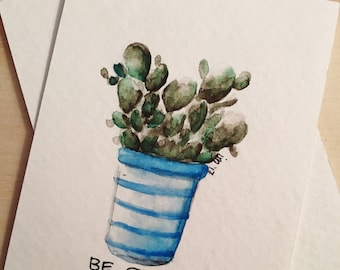 Succulant watercolor