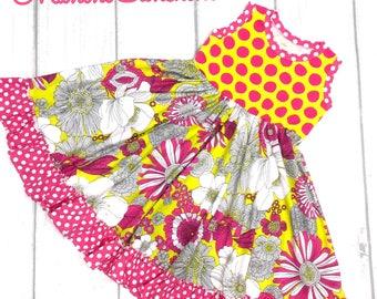 Cotton Jersey Wild Flower Twirl Dress