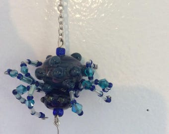West Coast Rain Spider....handmade lamp worked beads, great for review mirrors, windows and/or Christmas trees