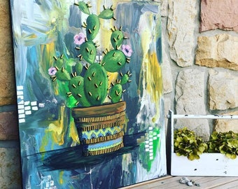 Cactus Bullet Painting