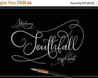 80% OFF Digital Wedding Font, Southfall Script, Digital download, Hand drawn script font, Calligraphy, Cursive font