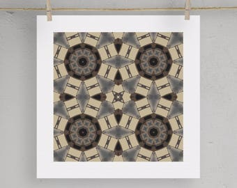 Tile Boho Graphic Print Art Moroccan Art  5X5 8X8 12X12 Matting Options