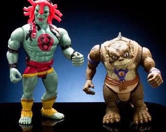 Original 1985 Thundercats Mumm-Ra w Snake Helmet & Slithe Telepix LJN Toys Wolf