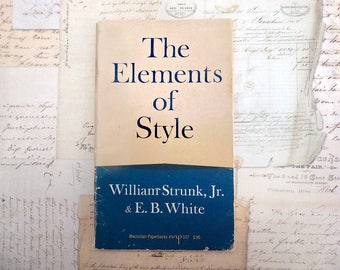 1959 Elements of Style Writing Guide, William Strunk & E.B. White