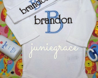 Baby Boy Coming Home Outfit Baby Boy Clothes Baby Boy Gift Personalized Baby Boy Outfit Newborn Outfit Take Home Outfit Hospital Outfit