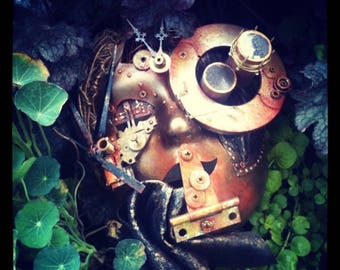 """Steampunk Mask- """"The Observer"""""""