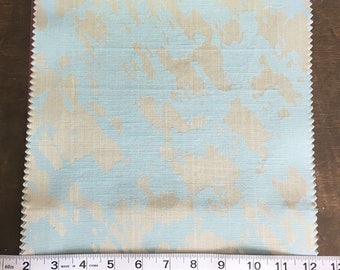 Custom Curtains Valance Roman Shade Shower Curtains in Light Aqua Abstract Pattern Fabric