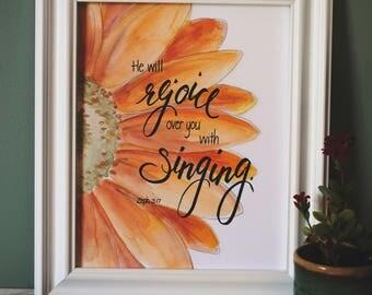 Zephaniah 13 He will REJOICE print