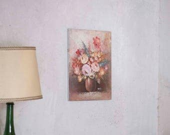 Vintage Floral Bouquet Oil Painting
