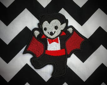 Cute Vampire sew on or iron on patch