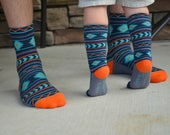 Baby and Me matching adult and baby knee high socks, Baby socks Boot Socks baby shower gift baby gift nordic print tribal patterned socks