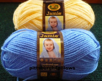 New Listing - Lion  Brand Yarn - Jamie - 1.75 Ozs. - 137 Yards - Price Is For All - 106 - Little Boy Blue - 157 - Sunshine