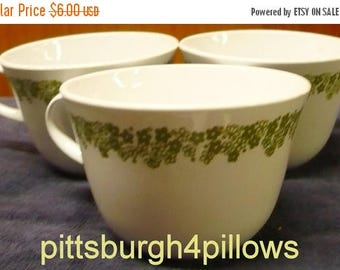 CHRISTMAS IN JULY 3 - Corelle - Spring Blossom Aka Crazy Daisy - Living Ware - Coffee Cups - Read Below - D Handle - Price Is For All - Euc