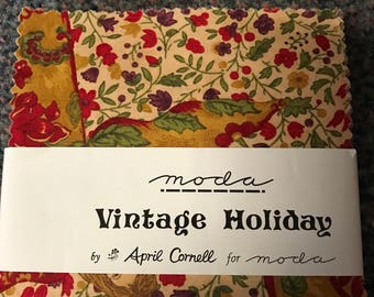 1 new charm pack Vintage Holiday Moda