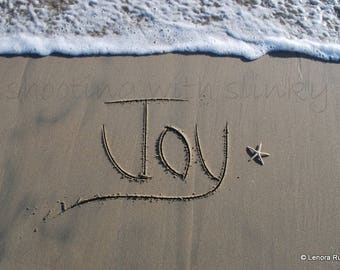 JOY, Writing in the Sand, Instant Download