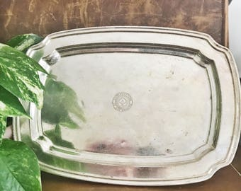 Antique Silver Plated Tray from University Club of Los Angeles
