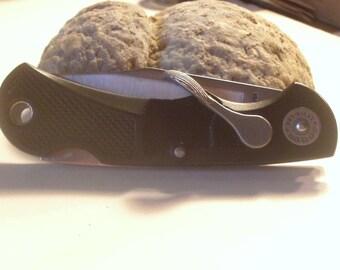 Vintage  Lev-R-Lok Folding Pocket Knife by Soque River Knife Company