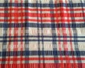 Red White and Blue Plaid Seersucker Fabric Cotton Polyester Blend 2 1/2 Yards X0882 Summer Clothing and Apparel