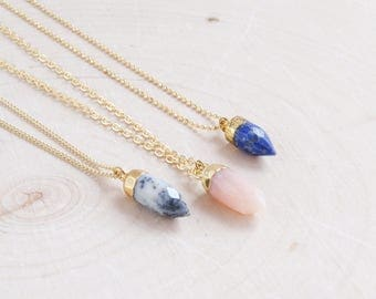 Opal Necklace | Gemstone Necklace | Boho Necklace | Gift for Her | October Birthstone | Birthday Gift | Birthstone Necklace