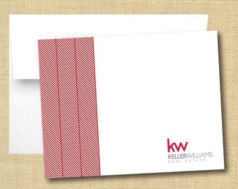 Set of Blank Tent Cards - Keller Williams Classic Herringbone