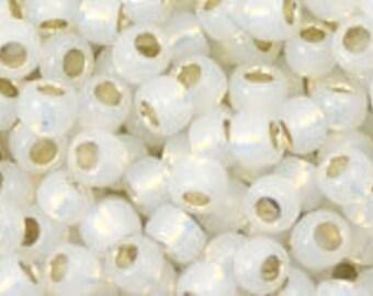 Japanese (TOHO)  8/0 Seed Bead, Silver-Lined MILKY WHITE #2100, milky white,Kumihimo, Knitting,Beadweaving,Beading,Jewelry