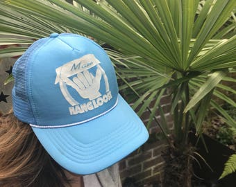 Baby Blue, Maui, Hawaii, Adjustable, Mesh Snapback, Truckers Hat, Drinking Team, Beach Wear, Spring Break, Unisex Fashion