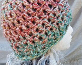 Chunky Crochet Beanie ( multiple color options)