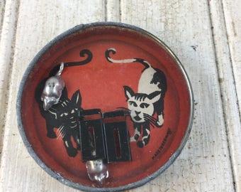 Vintage German Halloween Cat and Mice Game