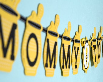 "Bumblebee Baby Shower Banner ""Mommy To Bee""- Customizable"