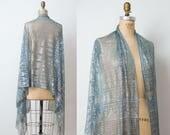 1920s Assuit Shawl / 20s Net Tulle Bi TELLI / Egyptian Revival