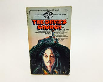 Vintage Horror Book The Devil's Church by F. Draco 1969 Paperback