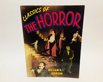 Vintage Non-Fiction Book Classics of the Horror Film by William Everson 1994 Softcover