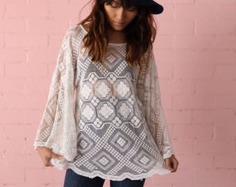 Bohemian lace SUNCHILD top