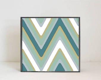 southwestern boho  nursery art -tribal print - geometric chevron print- gender neutral baby- childrens wall decor- nursery- redtilestudio