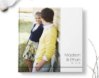 Photo Wedding Guest Book, Alternative Wedding Guest Book Ideas, Reception sign in book - Modern Layout