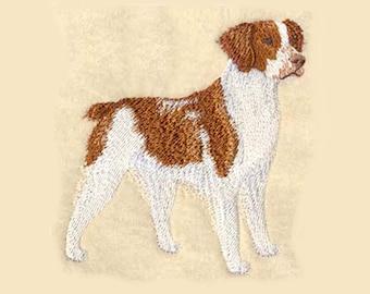 Brittany Spaniel Tea Towel | Dog Lover Gift | Kitchen Towel | Embroidered Tea Towel | Embroidered Towel | Embroidered Kitchen Towel
