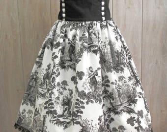 China Toile Classic Lolita Skirt. Gothic Lolita, Otome, Custom Size, Plus size Skirt.