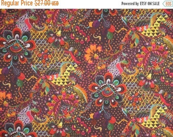 ON SALE Stunning Rich Jacobean Grand Bazaar Liberty of London Print Pure Cotton Lawn Fabric--By the Yard